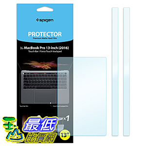 [美國直購] Spigen MacBook Pro 13吋 保護貼 Touch bar / TrackPad Protector with Matte Film for MacBook Pro