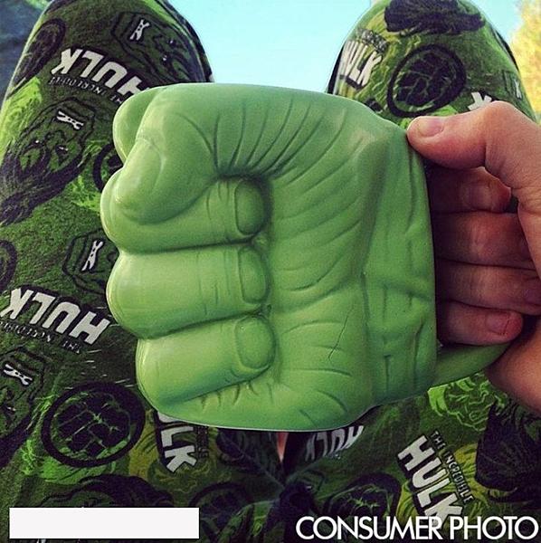 漫威綠巨人拳頭陶瓷咖啡馬克杯酒吧飯店茶杯兒童卡通禮品水杯