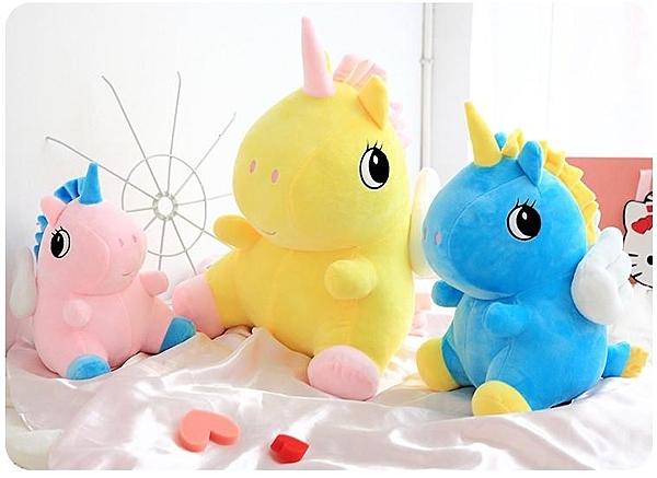 【30公分】粉嫩獨角獸玩偶 絨毛娃娃 聖誕節交換禮物 生日禮物 兒童節禮物 婚禮布置 婚禮小物