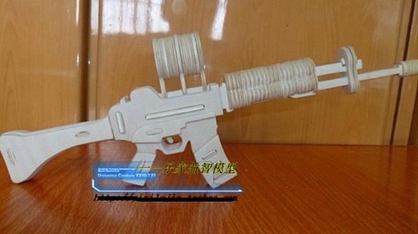 【協貿國際】diy木製拼圖小卡賓槍(3入)