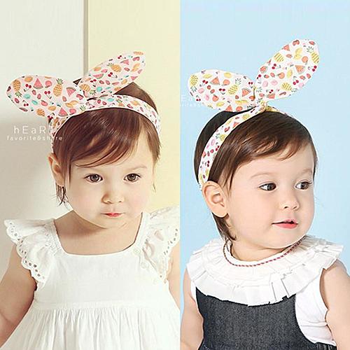 水果棉感兔耳朵髮帶 兒童髮飾 可彎曲髮帶 造型髮飾