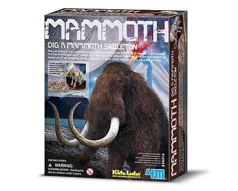挖掘長毛象 Mammoth Skeleton 冰河時期大象
