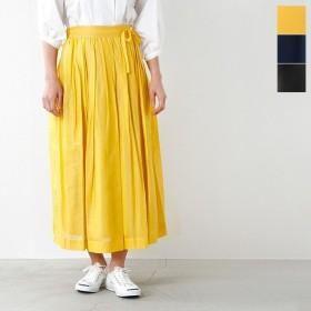 ina イナ ウエスト紐付きギャザースカート 165162 レディース
