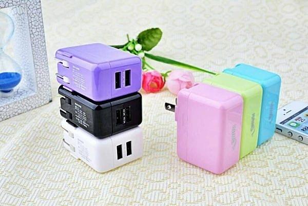 『HANG C14』5V/2.1A雙孔USB可同時充電/快速充電/旅充頭/插座/電源供應器/豆腐頭/充電頭