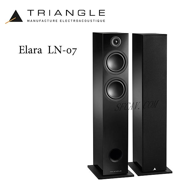 【竹北勝豐群音響】Triangle Elara LN-07  落地型喇叭 Black ( Esprit EZ /  902 )