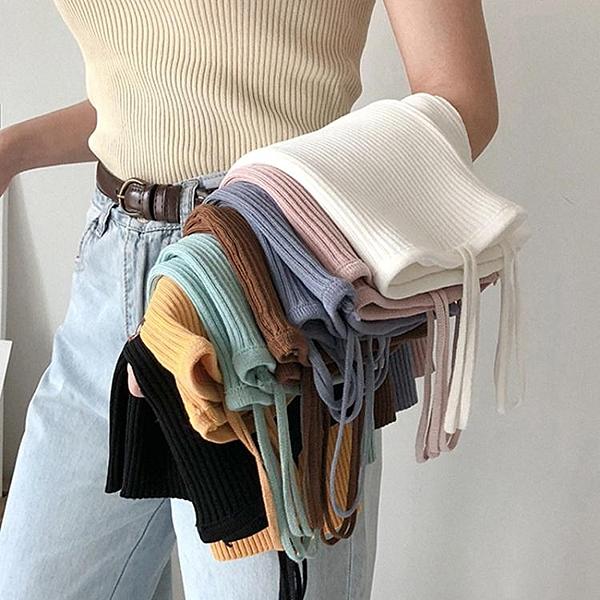 夏季韓版修身內搭吊帶白色針織衫小背心女外穿短款打底衫上衣