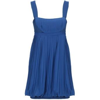 《セール開催中》DANIELE ALESSANDRINI レディース ミニワンピース&ドレス ブルー 40 ポリエステル 100%