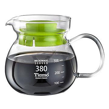 金時代書香咖啡 C'afeDeTiamo 圓滿咖啡玻璃壺花茶壺 380cc SGS測試合格 HG2201G