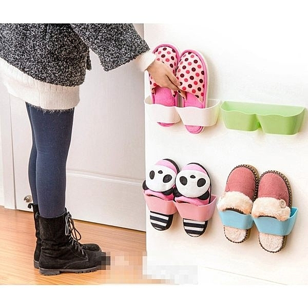 韓版 創意 拖鞋收納架 立體牆壁掛式鞋架 室內拖鞋 鞋收納 鞋櫃鞋架鞋盒 【RS409】