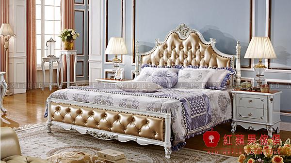 [ 紅蘋果傢俱 ] LM-328 拉菲莉亞系列 五尺床 雙人床 床架 (另售六尺床) 數千坪展示