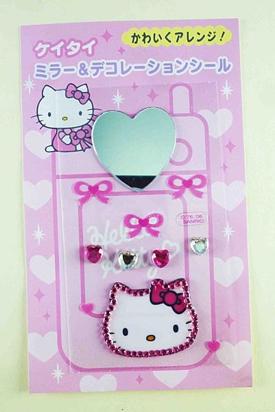 【震撼精品百貨】Hello Kitty 凱蒂貓~KITTY立體鑽貼紙-附鏡
