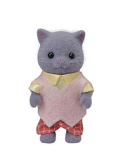 日本 EPOCH森林家族 波斯貓爸爸 灰EP14051 原廠公司貨