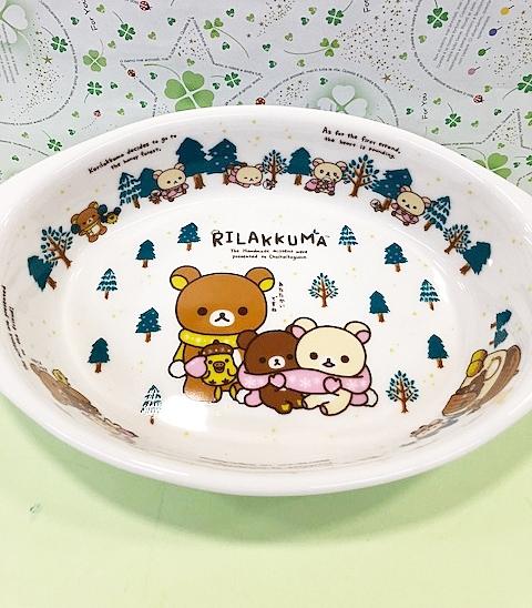 【震撼精品百貨】Rilakkuma San-X 拉拉熊懶懶熊~拉拉熊陶磁盤子(可焗烤)-綠色#92650