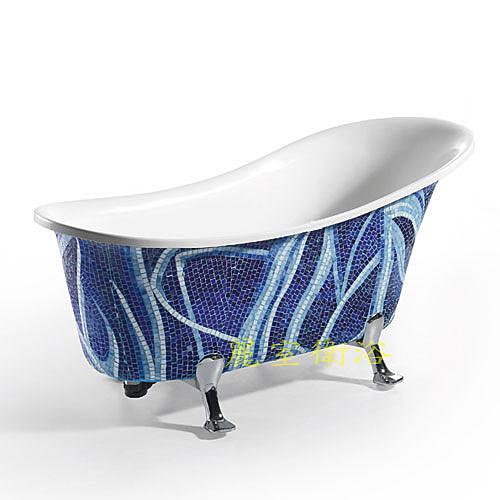 【麗室衛浴】BATHTUB WORLD YG3351M15  壓克力馬賽克造型古典貴妃獨立缸 150*69*81CM