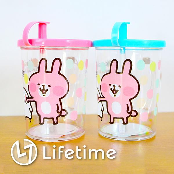 ﹝卡娜赫拉塑膠水杯200ml﹞正版塑膠杯子 水杯 漱口杯 吸管杯 兔兔 P助〖LifeTime一生流行館〗B05772
