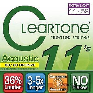 CLeaRTone(0.11-0.52)頂級民謠弦(黃銅) 【CleaR Tone吉他弦專賣店/進口弦/7611】