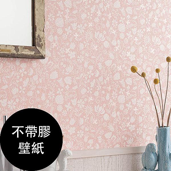 粉紅色花草 淑女風  防水 消臭壁紙 【不帶膠壁紙- 單品5m起訂】 BA6101