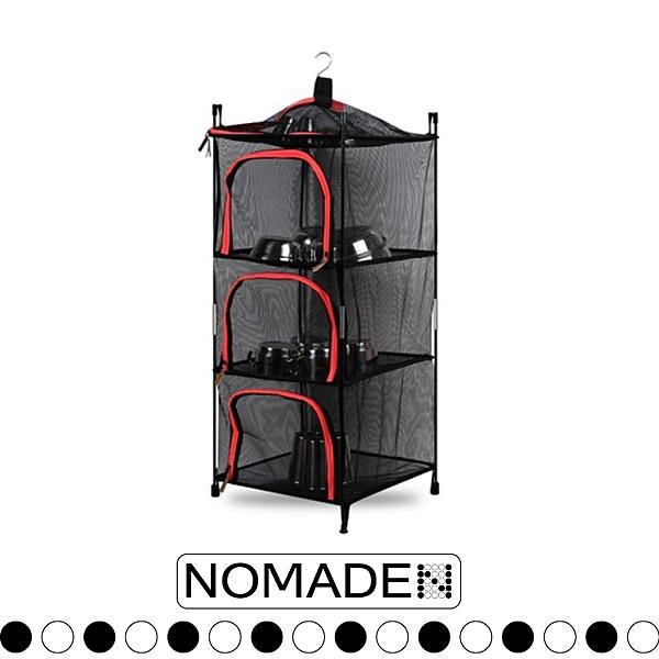 【NOMADE 兩用碗櫥櫃《紅》】N7193/碗櫥/碗籃/碗櫃/防塵/露營