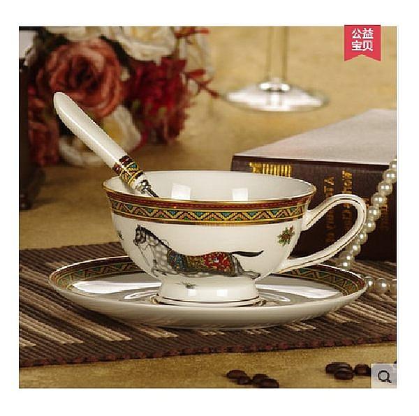 咖啡杯碟 紅茶杯 帶勺子