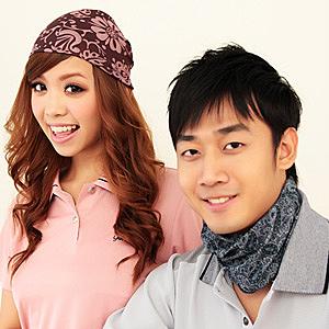 【源之氣】台灣竹炭魔術頭巾(2入 三色可選) RM-10251