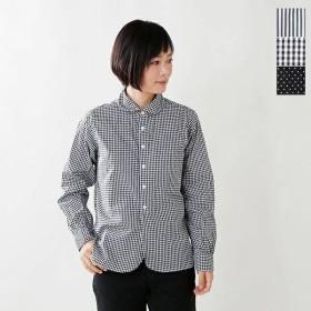 Manual alphabet マニュアルアルファベット aranciato別注 ハイシルキーコットンラウンドカラーシャツ mal-ac-sh-002