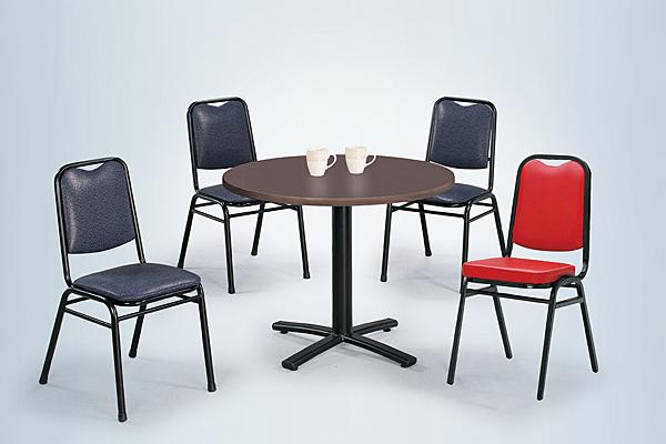 【 IS空間美學】2.5尺圓鐵刀木十字餐桌+紳士椅(一桌四椅)