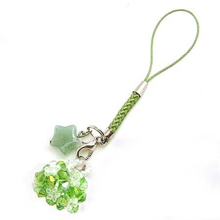 綠水晶串珠錢包與東菱星星吊飾