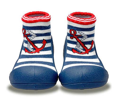 韓國 Attipas 快樂腳襪型學步鞋-水手深藍