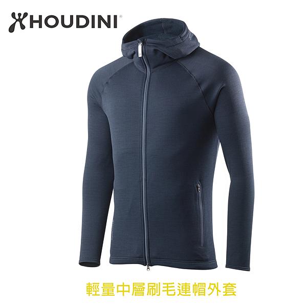 [瑞典  HOUDINI ] M's Outright Houdi 輕量中層刷毛連帽外套 男款 (藍色幻想)