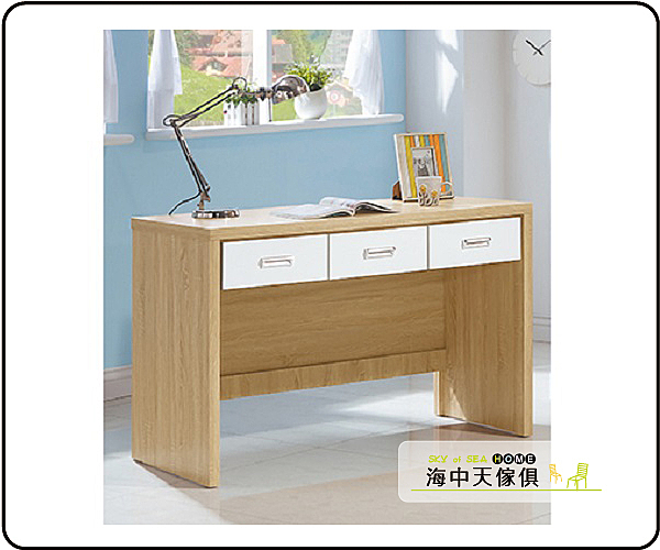 {{ 海中天休閒傢俱廣場 }} G-37 摩登時尚 書桌系列 334-44 原切白4尺書桌