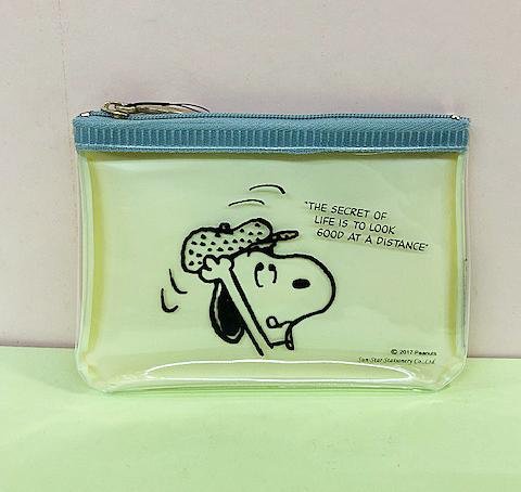 【震撼精品百貨】史奴比Peanuts Snoopy ~SNOOPY拉鍊零錢包-透明黃#53096