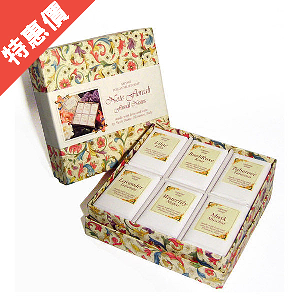 Nesti Dante 義大利手工皂 經典城市之花禮盒  100g 6入/盒 【娜娜香水美妝】