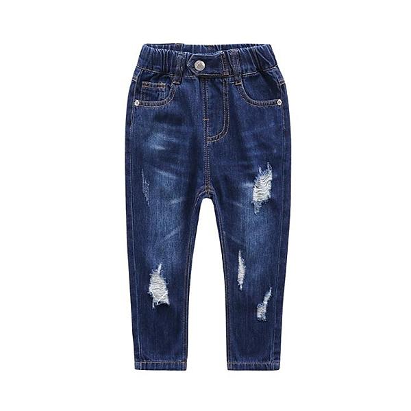 童裝2-8歲男童破洞牛仔褲2020夏季款新款男童長褲
