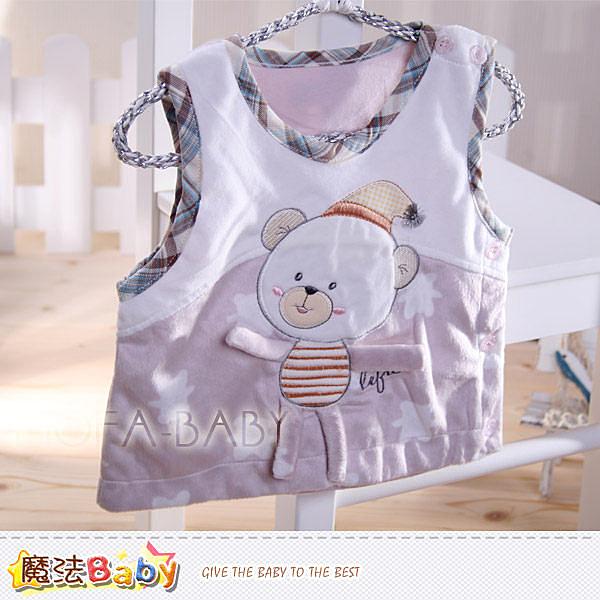 百貨專櫃正品LE18品牌 睡帽小熊細雪絨背心外套 魔法Baby