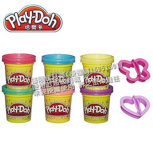 Play-Doh培樂多 閃亮黏土六色黏土組【佳兒園婦幼館】