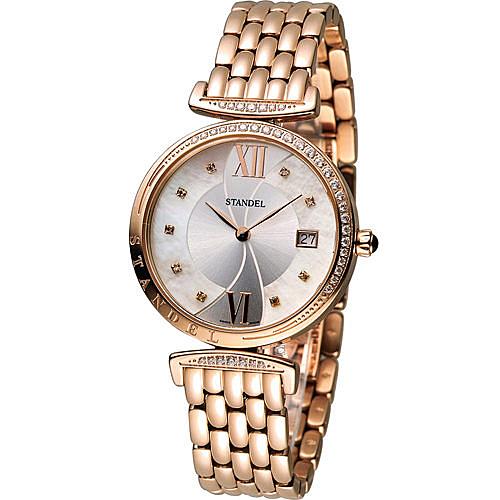 Standel Luxury 詩丹麗 極光系列時尚鑽錶 5S1501-121DRG-WM