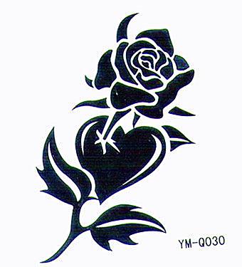 薇嘉雅     花 超炫圖案紋身貼紙 Q030