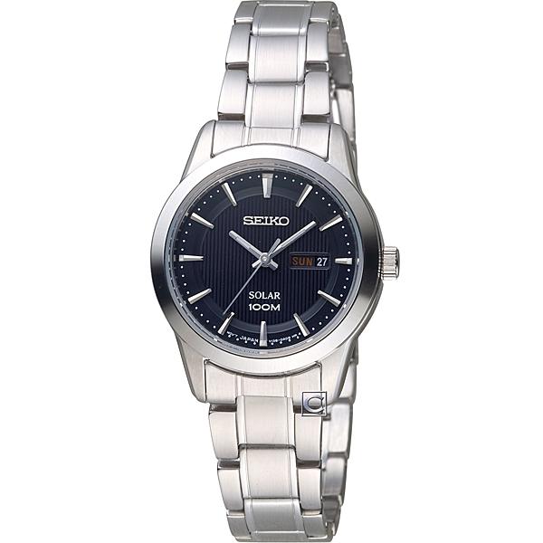 SEIKO精工太陽能經典時尚錶 V138-0AB0D