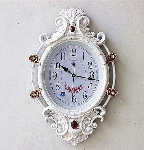 北極星歐式掛鐘(白裂紋)