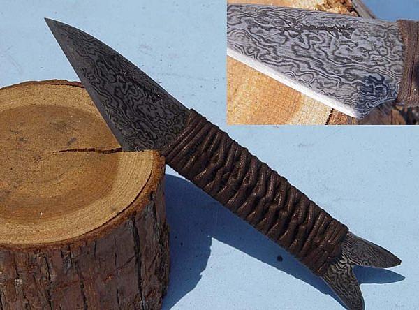郭常喜與興達刀鋪-積層花紋鋼手工製作小魚刀-繩柄魚型(C0001)賀!榮獲高雄城市品牌CAD認證
