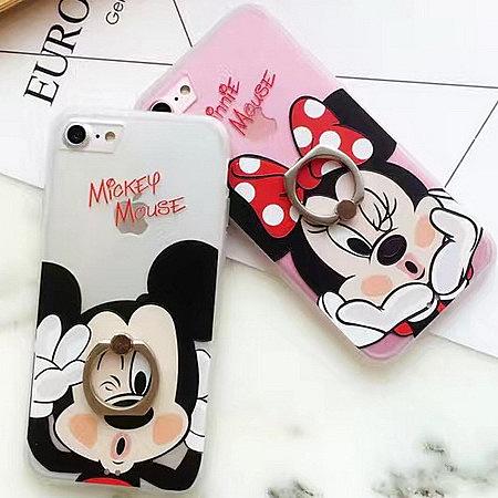 iPhone7可愛支架浮雕卡通 手機套i7 plus iPhone6S/ plus 手機套