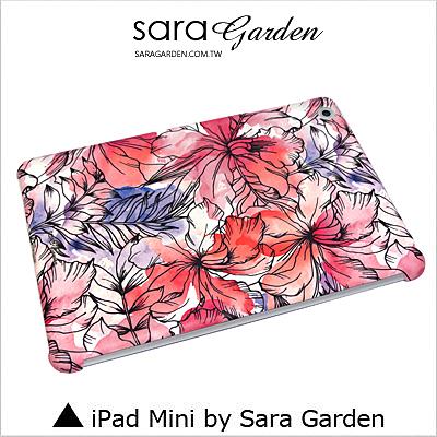iPad Mini 1 2 3 4 客製化 保護殼 水彩扶桑花