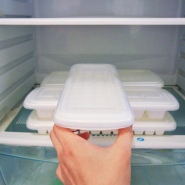 TwinS日式帶蓋速冷48格製冰格冰模【炎夏居家必備】