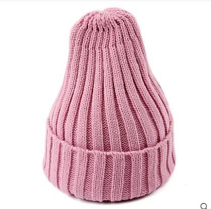 [協貿國際]韓版潮流秋冬嘻哈帽針織帽粉