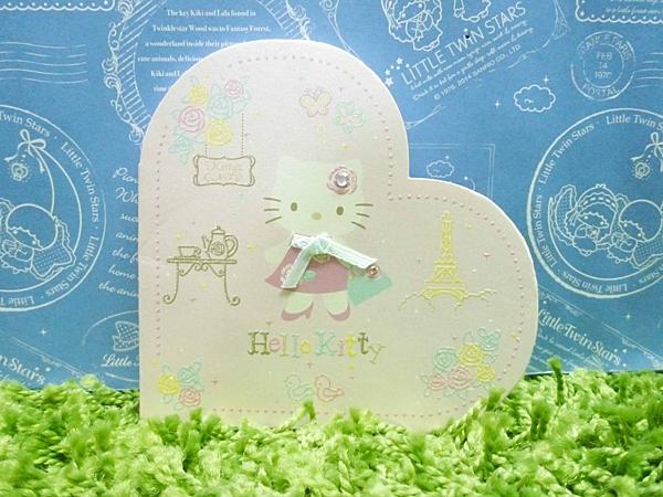 【震撼精品百貨】Hello Kitty 凱蒂貓~便條紙-愛心造型-玫瑰圖案【共1款】