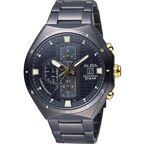 ALBA 雅柏 活力運動三眼計時限量腕錶 VD57-X087SD AM3403X1