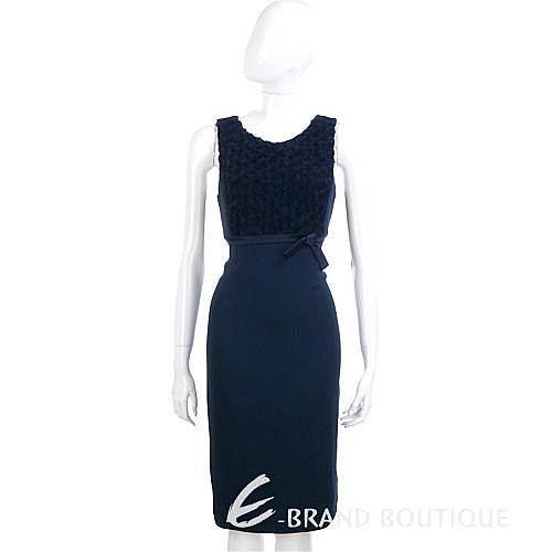 NINA 立體花朵飾無袖洋裝 (深藍色) 1220501-34