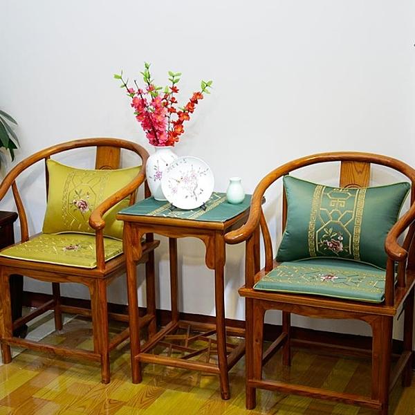 [超豐國際]新中式紅木家具沙發坐墊防滑官帽圈椅太師茶餐椅薄款