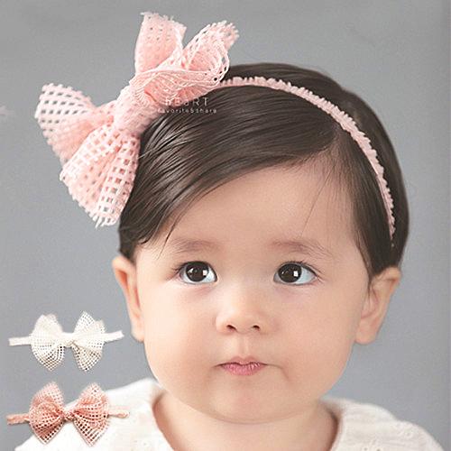 鏤空網格蝴蝶結髮帶 兒童髮飾 髮帶 綁結髮帶