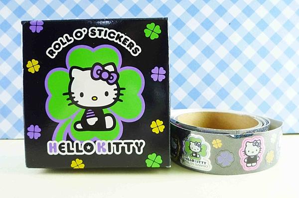 【震撼精品百貨】Hello Kitty 凱蒂貓~KITTY貼紙-盒裝貼紙-黑幸運草